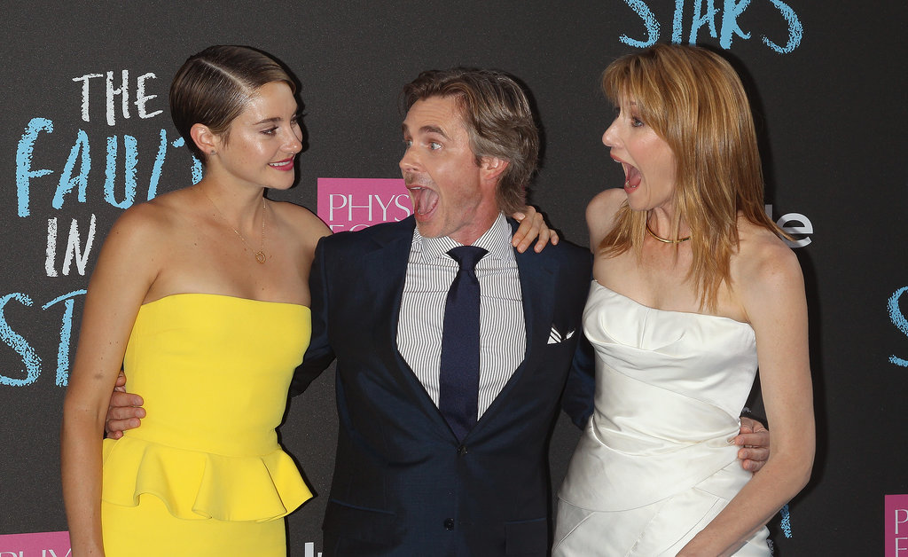 Shailene Woodley's onscreen parents, Sam Trammell and Laura Dern, were excited to see her.
