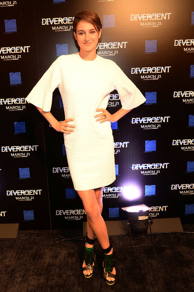 Shailene Woodley in Alexander McQueen at the 2014 Divergent Atlanta Screening