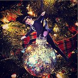 "This tiny ""Wrecking Ball"" ornament of himself is pretty great."