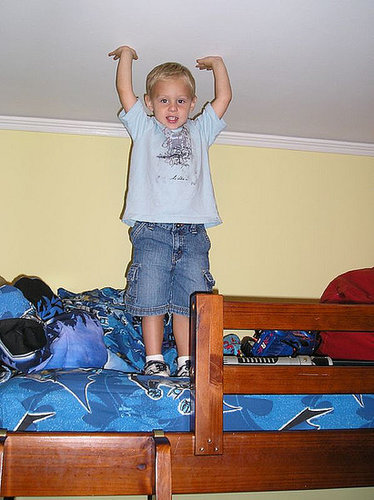 Bunk beds are great in theory and bad in reality.