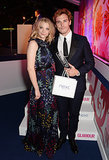 Sam accepted his man of the year award from Natalie Dormer.