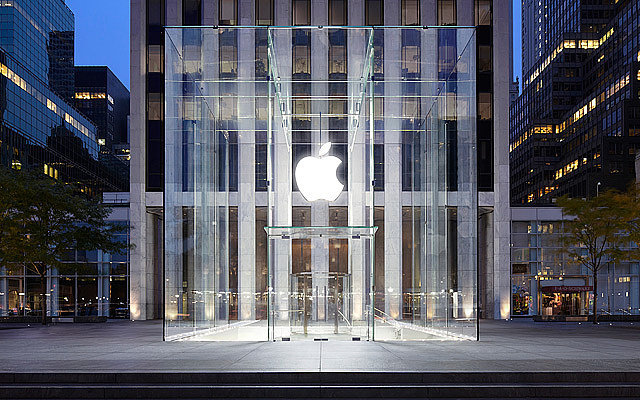 "The famous Fifth Avenue Apple store (aka the ""glass cube"") was found to be the city's most photographed attraction in 2011. Source: Apple"