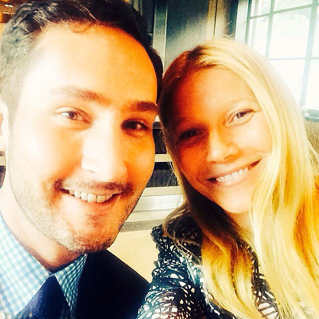 Gwyneth Paltrow snapped a selfie with Instagram CEO Kevin Systrom. Source: Instagram user gwynethpaltrow