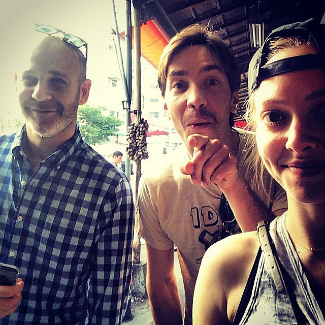Amanda Seyfried and Justin Long had fun in Tokyo. Source: Instagram user mingey