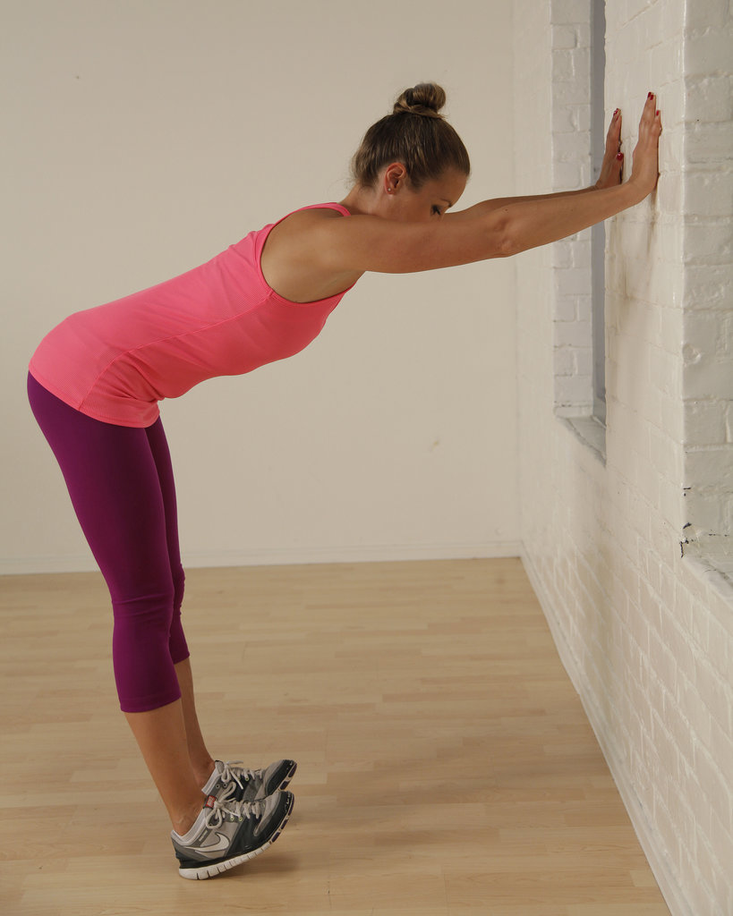 Flexed Feet Wall Stretch