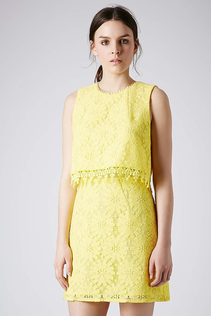 Topshop Crop Overlay Lace Dress ($90)
