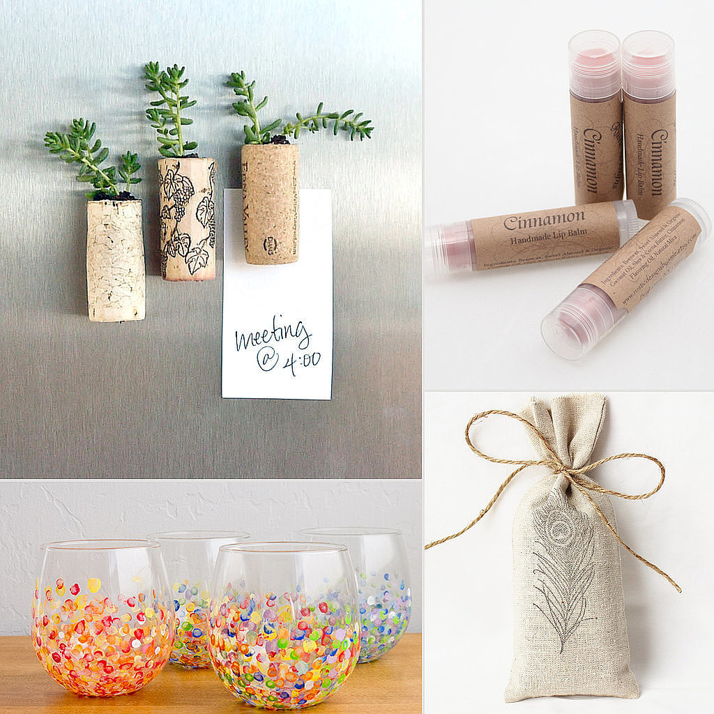 Whether you're the bride, maid of honor, or honorary party organizer, giving favors is a great way to say thanks to friends and family for their gifts to and support of the wife-to-be — but extravagant offerings aren't necessary to show your appreciation! If you get creative and crafty, party favors can be unique, inexpensive, and fun for you and your guests. POPSUGAR Smart Living found 21 ways to give sweet gifts without breaking the bank. Source: Sarah Lipoff, Etsy user RusticDesignsByAmie, and  Etsy user Gardenmis