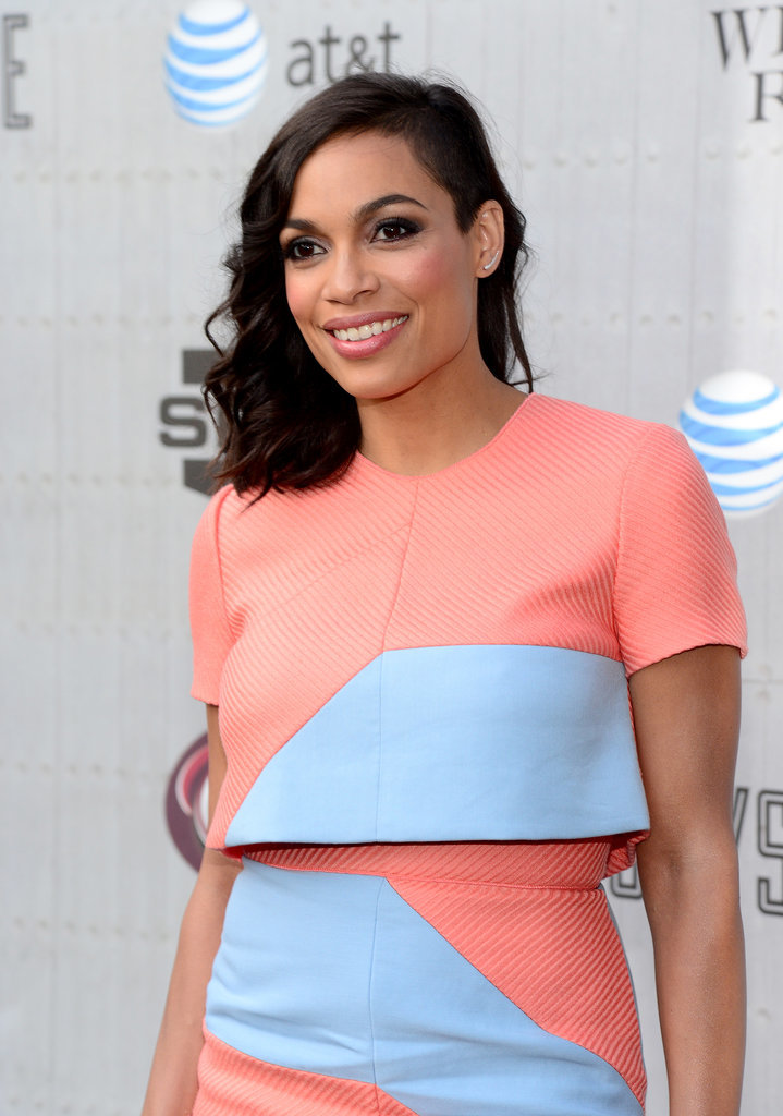 Rosario Dawson was all smiles.