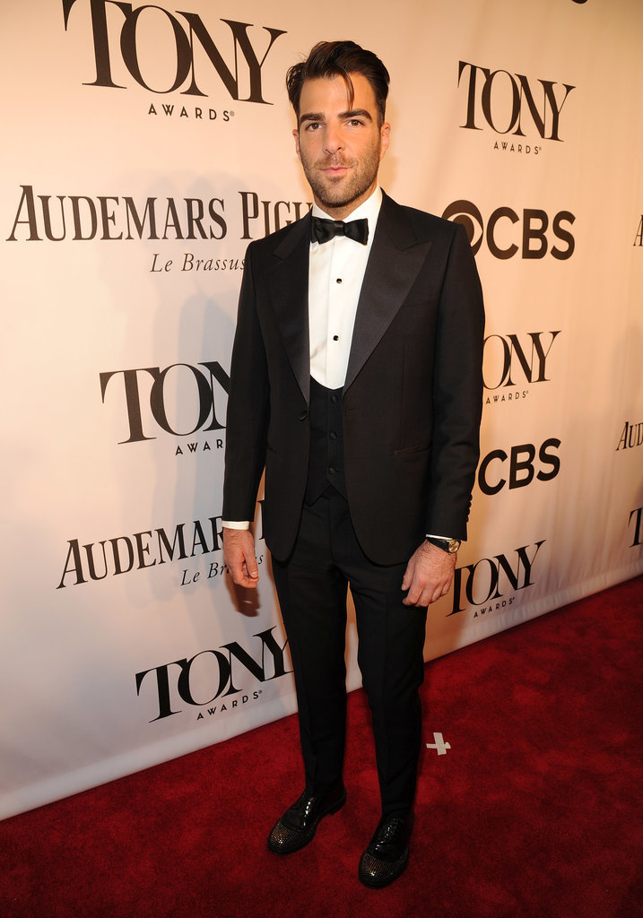 Zachary Quinto posed for photos.
