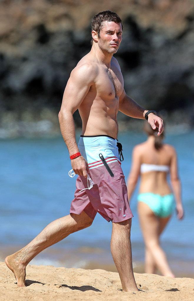 James Marsden Shirtless On The Beach In Hawaii Popsugar