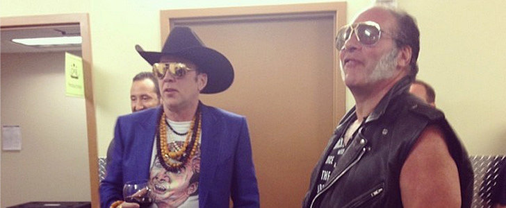 Nicolas Cage Wore a Nicolas Cage T-Shirt to a Guns N' Roses Concert