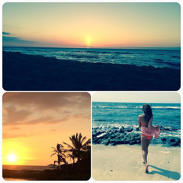 Lea captured the essence of her vacation in Hawaii with this collage.  Source: Instagram user msleamichele