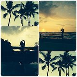 Lea was a fan of the sunsets in Hawaii.  Source: Instagram user msleamichele