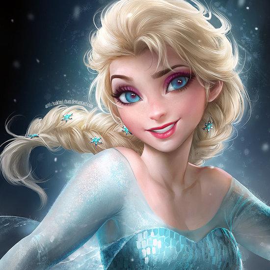 Frozen Princesses Elsa and Anna Get Artistic Makeovers