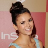 Celebrity Pictures of Top Knot Hairstyles Like Nina Dobrev