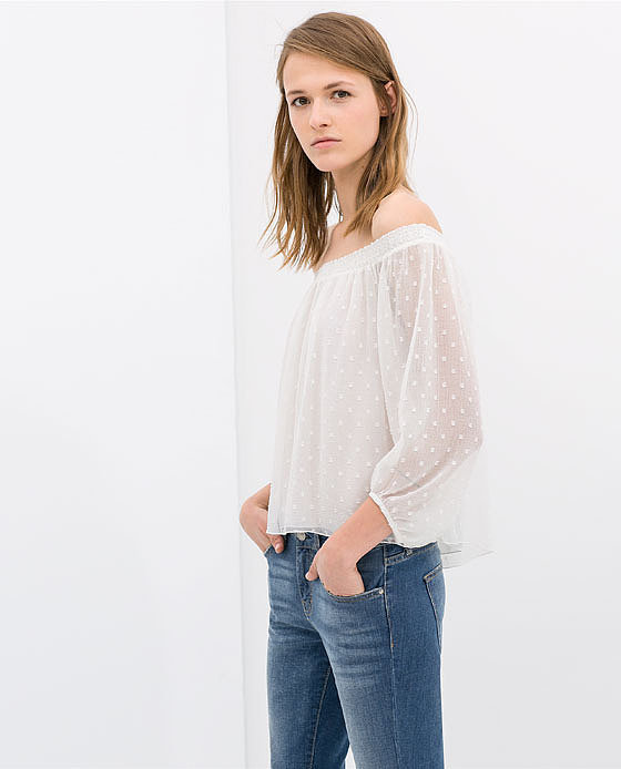 Zara Off-the-Shoulder Blouse