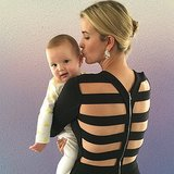A dressed-up Ivanka Trump gave little Joseph a cute little peck on the ear. Source: Instagram user ivankatrump