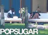 Kim and Kanye Hang Poolside on Their Second Honeymoon!