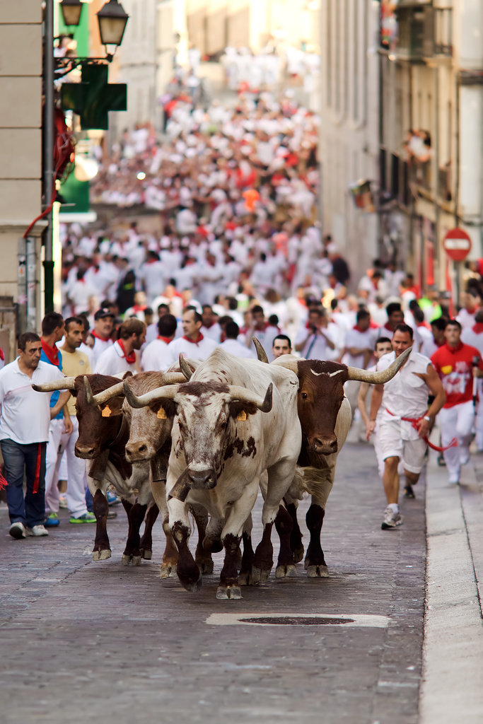 Run With the Bulls in Pamplona