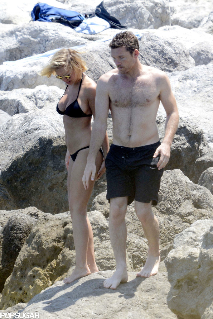 Lara Bingle and Sam Worthington Somehow Make the Beach Even Hotter