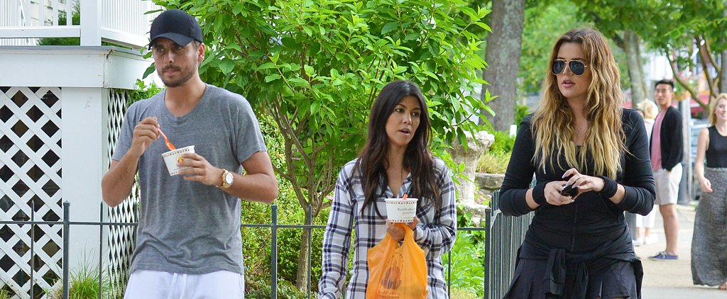 Kourtney Kardashian Grabs a Sweet Treat With Khloé and Scott