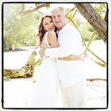Stacy Keibler and her dad were all smiles in a photo seemingly taken at her wedding. Source: Instagram user stacykeibler