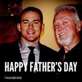 Channing Tatum reposted a Father's Day meme of him and his dad.  Source: Instagram user channingtatum