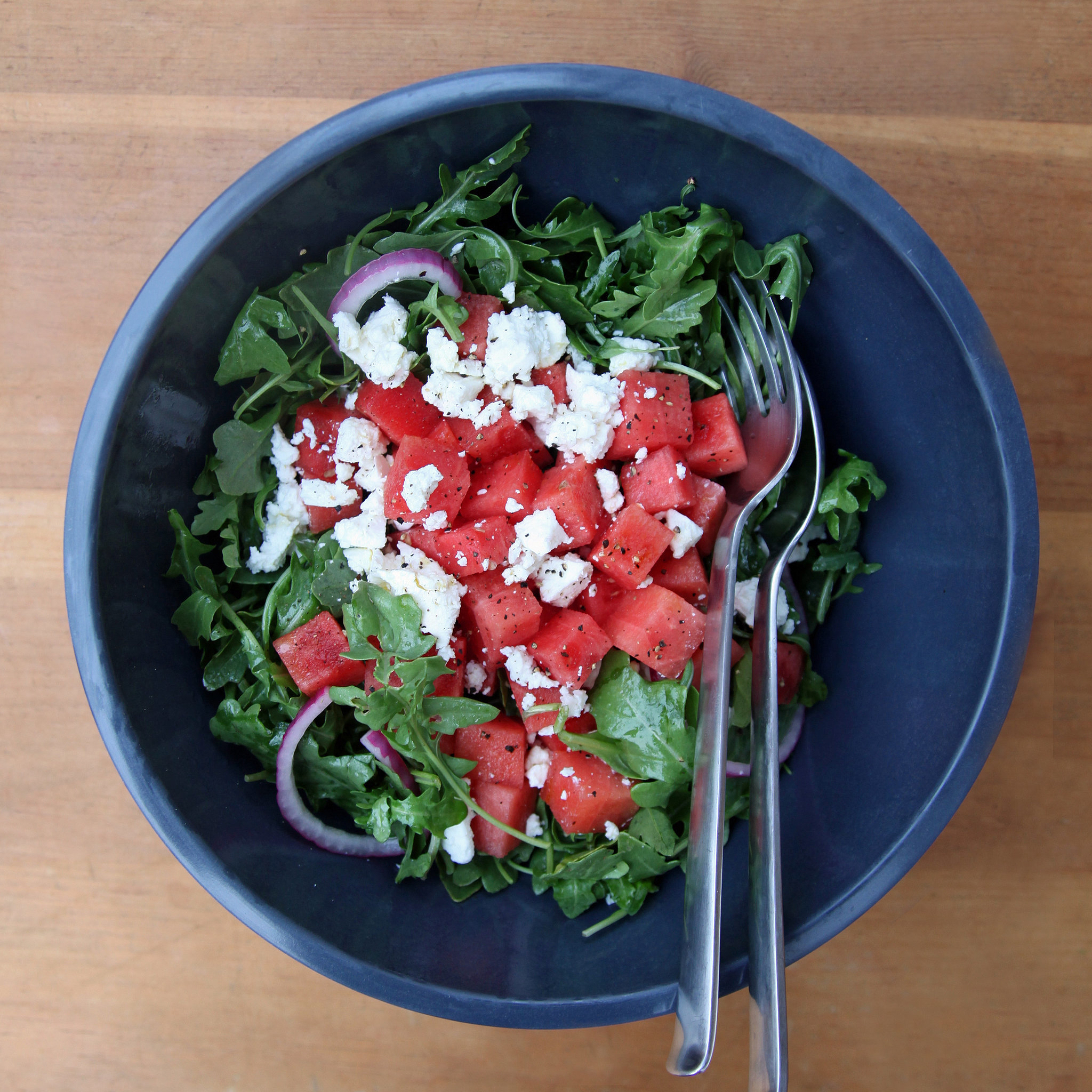 Watermelon, Feta, and Arugula Salad | POPSUGAR Food