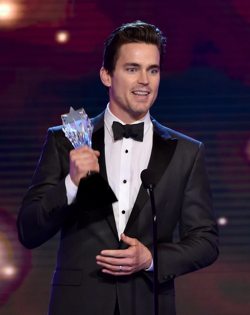 Matt Bomer accepted his award for best supporting actor in a movie or miniseries.