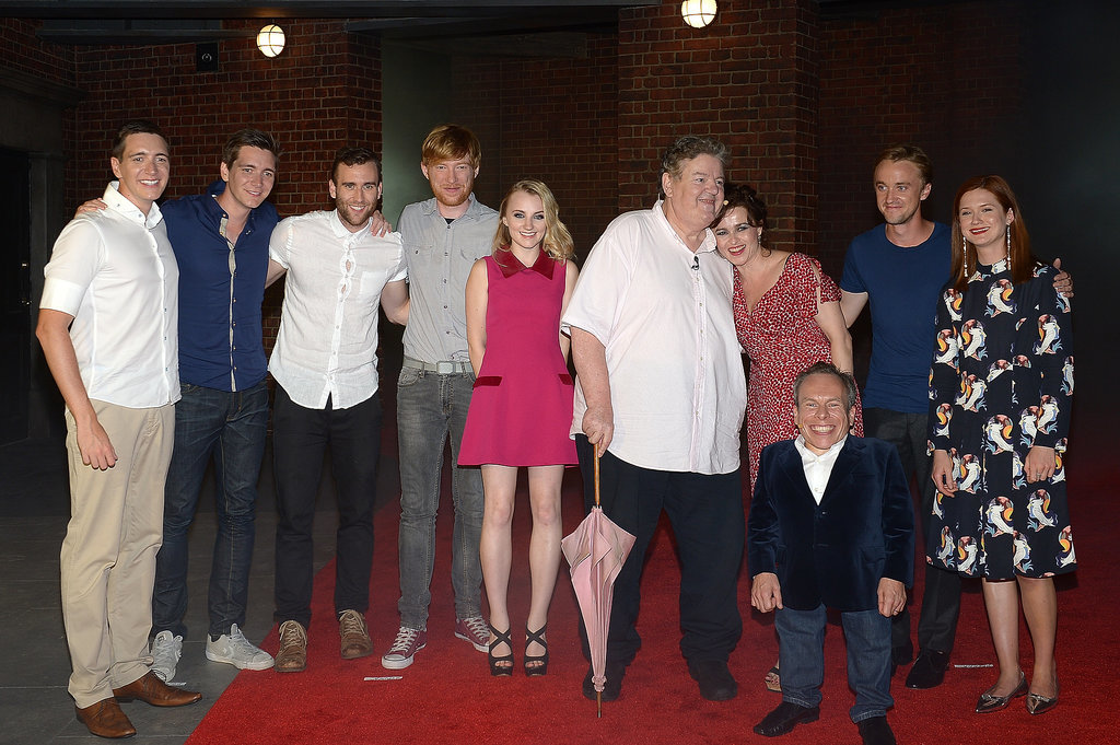 Harry Potter cast members reunited for the opening of The Wizarding World of Harry Potter's Diagon Alley ride. We were there for the action, so check out some of our behind-the-scenes snaps on Instagram!
