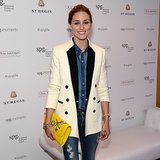 Where To Buy Olivia Palermo's White Tuxedo Jacket And Jeans