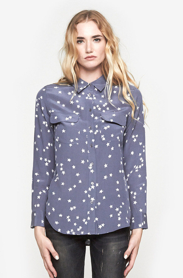 Equipment Star-Print Shirt
