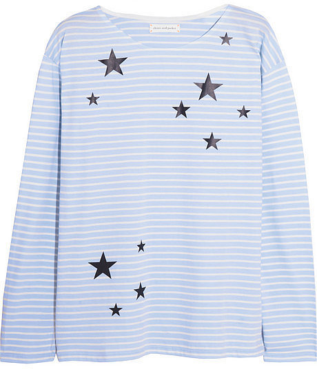 Chinti and Parker Star-Print Striped Shirt