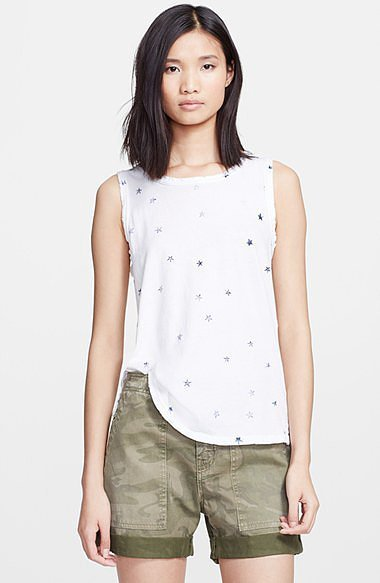 Current/Elliott Star-Print Muscle Tee