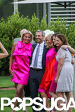Katie's pink-clad bridesmaids posed for photos with the groom.  Go inside Poppy Delevingne's stunning wedding They were married?! Celebrity unions from the past