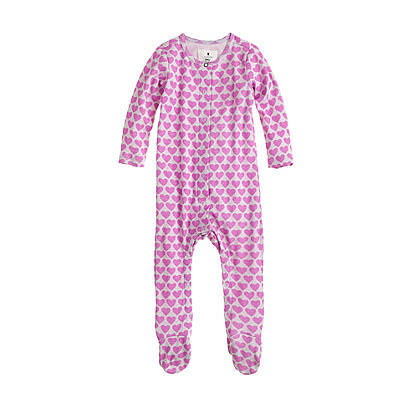 J.Crew Baby Footed Coverall in Heart Stack