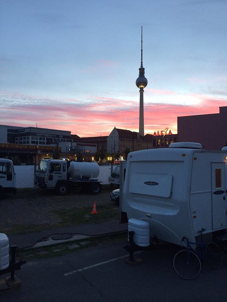 """Goodbye Berlin. With deepest thanks to our remarkable #Mockingjay cast and crew."" Source: Twitter"