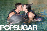 The couple shared a cute kiss as they swam with dolphins in Hawaii during their honeymoon in June 2010.