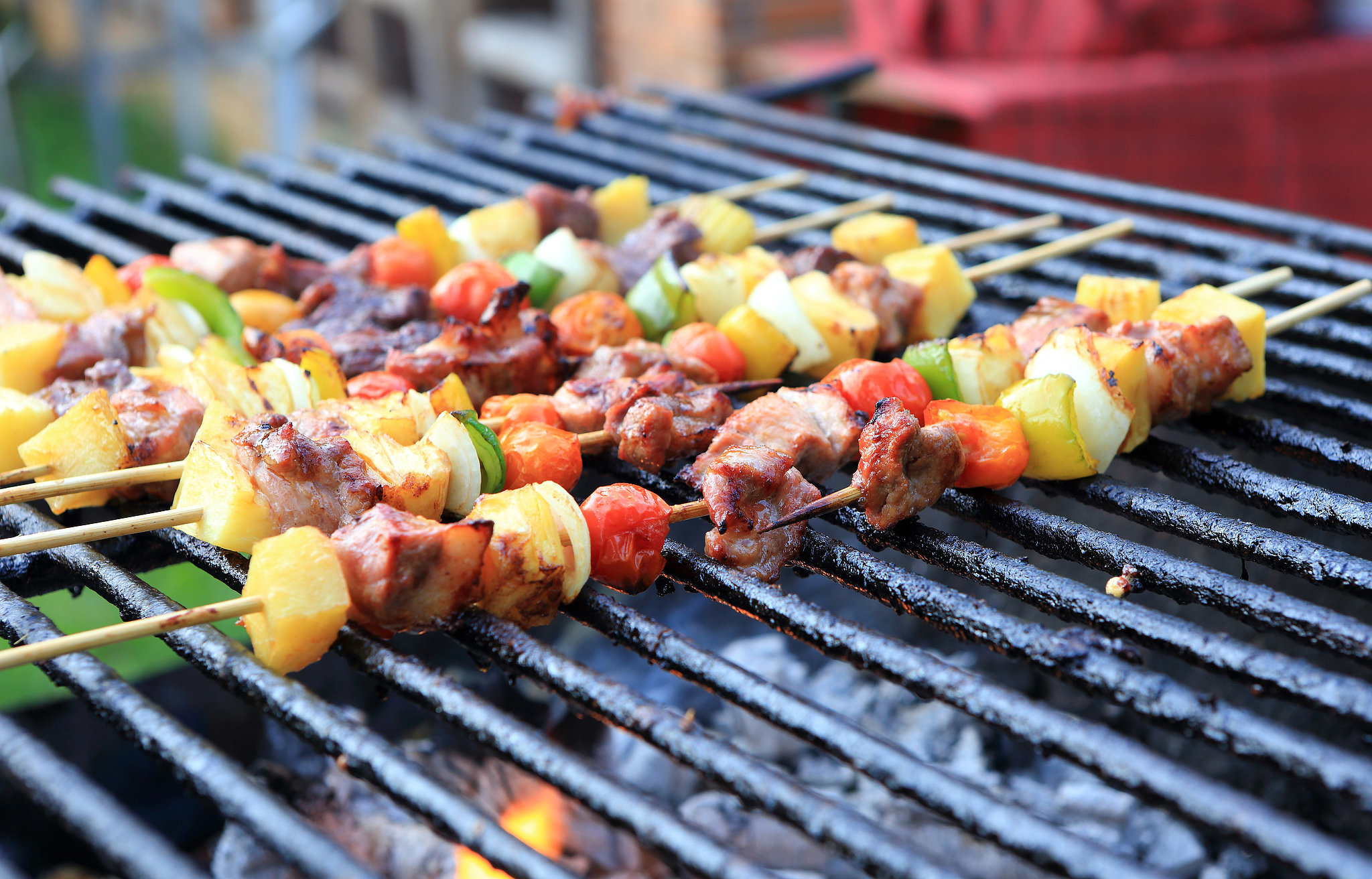 Hot Dog Pineapple Kabobs