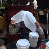 Arthur Bleick played a little hide-and-seek with his mom, Selma Blair. Source: Instagram user therealselmablair