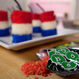 Fourth of July Pop Rocks Fireworks Cakes