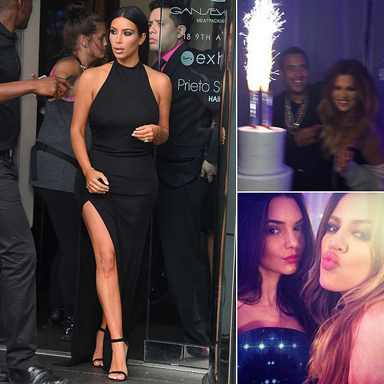 Kim Still Manages to Steal the Show at Khloé's Birthday Party
