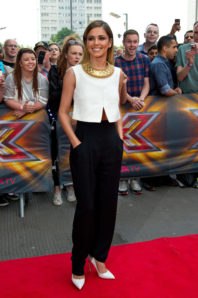Cheryl Cole arrived for the London auditions of The X Factor at Emirates Stadium in 2014 in a pair of Temperley trousers.
