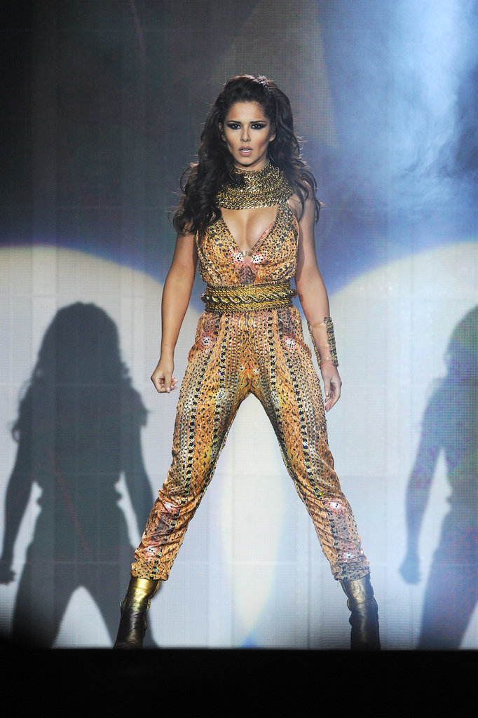 On stage for her A Million Lights arena tour in 2012, Cheryl picked a printed jumpsuit.