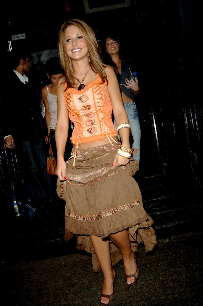 It was boho all the way in July 2005, when Cheryl hit the town in London for a night out.