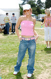 A 2004 appearance at Party in the Park was a chance for Cheryl to go casual in a boob tube, boy jeans, and a baseball cap.