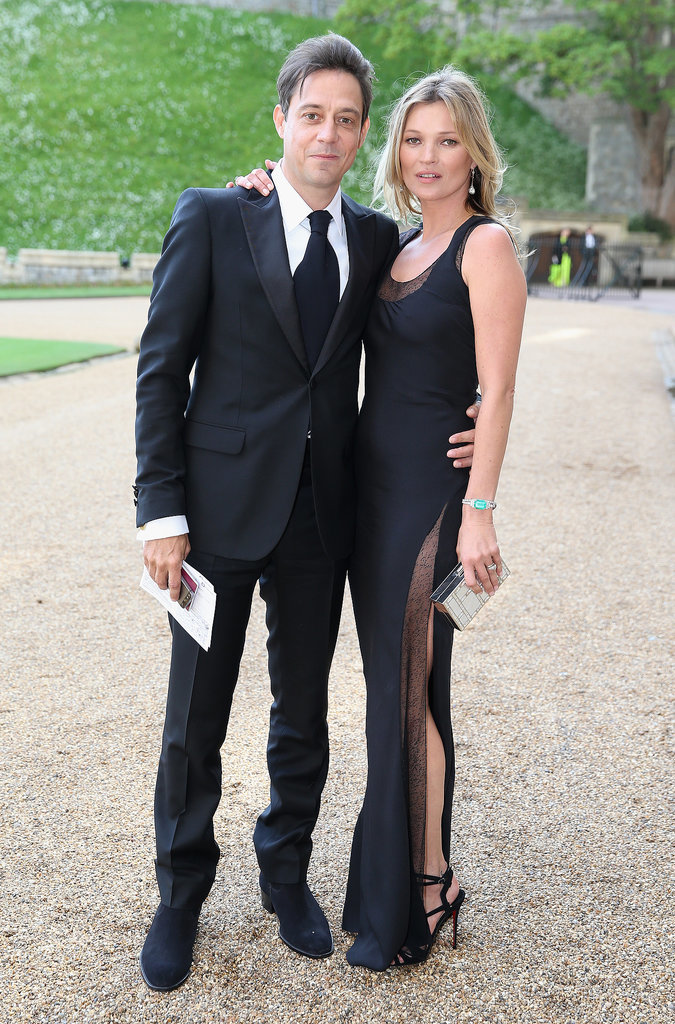 The couple wore matching black ensembles for a dinner hosted by Prince William at the Windsor Castle in May 2014.