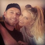 "Jessica and Eric were all smiles during a cute ""date day"" in January 2014. Source: Instagram user jessicasimpson"