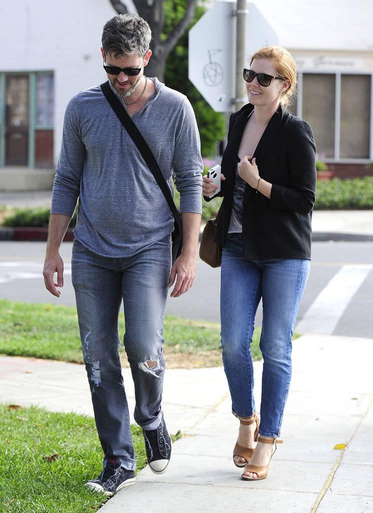 Amy Adams went for a walk with her fiancé, Darren Le Gallo, on Tuesday in LA.