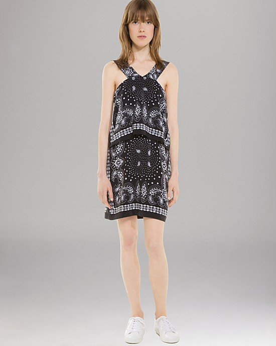 Sandro silk print dress ($255, originally $510)